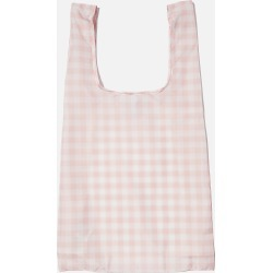 Cotton On Foundation - Foundation Recycled Foldable Shopper - Peach gingham online ext.