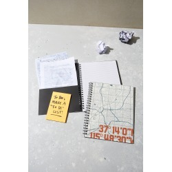 Typo - A4 Campus Notebook Recycled - Co-ord map