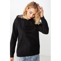 Cotton On Women - Premium Fashion Hoodie - Noir cest chic/black