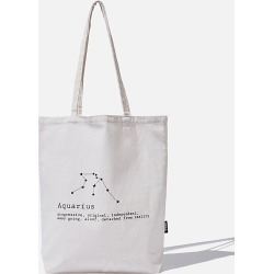Cotton On Foundation - Foundation Online Exclusive Star Sign Tote - Aquarius