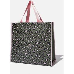 Cotton On Foundation - Recycled Large Shopper - Snow leopard