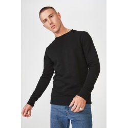 Cotton On Men - Crew Fleece 2 - Black