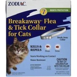 Zodiac Breakaway Flea & Tick Cat Collar, 13-in