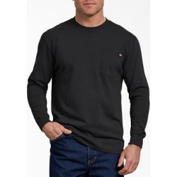 Dickies Men's Long Sleeve Heavyweight Crew Neck T-Shirt - Black Size L (WL450) found on Bargain Bro India from Dickies.com for $14.99