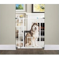 Carlson Pet Products Extra Tall Walk-Thru Gate with Pet Door, Extra Tall found on Bargain Bro India from Chewy.com for $41.79