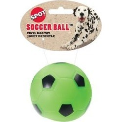 Ethical Pet Vinyl Soccer Ball Dog Toy, Color Varies, 3-in