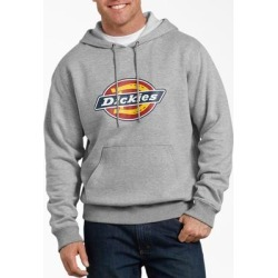 Dickies Men's Relaxed Fit Logo Fleece Hoodie - Heather Gray Size S (TW45A) found on Bargain Bro India from Dickies.com for $37.99