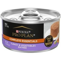 Purina Pro Plan Classic Turkey & Vegetable Entree Grain-Free Canned Cat Food, 3-oz, case of 24