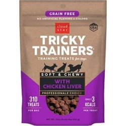 Cloud Star Tricky Trainers Chewy Grain Free Liver Flavor Dog Treats, 12-oz bag found on Bargain Bro India from Chewy.com for $12.50