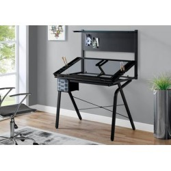 Drafting Table - Adjustable / Black Metal/ Tempered Glass - Monarch Specialties I-7034 found on Bargain Bro India from totally furniture for $202.69