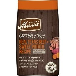 Merrick Real Texas Beef + Sweet Potato Recipe Grain-Free Adult Dry Dog Food, 10-lb bag