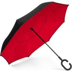 ShedRain Reversible Open Umbrella - Black/Red