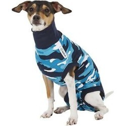 Suitical Recovery Suit for Dogs, Blue Camo, X-Small found on Bargain Bro India from Chewy.com for $31.70