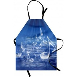 Ambesonne Music Apron - Yellow