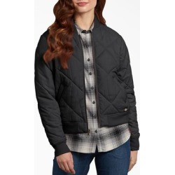 Dickies Women's Quilted Bomber Jacket - Black Size L (FJ800) found on Bargain Bro India from Dickies.com for $44.99
