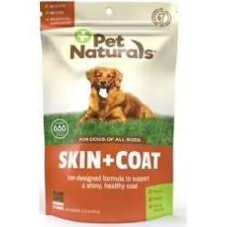 Pet Naturals of Vermont Skin + Coat Dog Chews, 30 count
