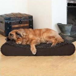 FurHaven Ultra Plush Luxe Lounger Orthopedic Dog & Cat Bed, Chocolate, Jumbo Plus found on Bargain Bro Philippines from Chewy.com for $99.99