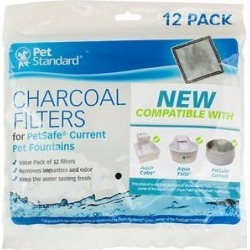 Pet Standard Charcoal Filters for PetSafe Current Fountains, 12 count