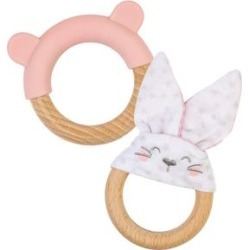 Ring and Bunny Teether - Pink found on Bargain Bro Philippines from macys.com for $22.00