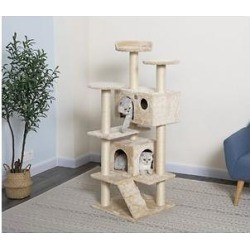 Go Pet Club 53-in Cat Tree, Beige found on Bargain Bro India from Chewy.com for $64.99