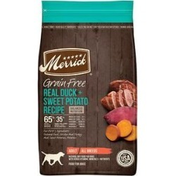 Merrick Grain Free Dry Dog Food Real Duck & Sweet Potato Recipe, 22-lb bag