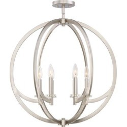 Quoizel Orion 24 Inch 6 Light Semi Flush Mount - ON1724BN found on Bargain Bro India from Capitol Lighting for $649.99