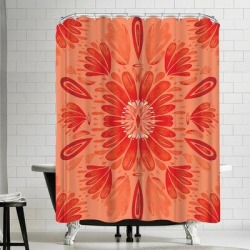 East Urban Home Kristine Lombardi Floral Single Shower Curtain EBIB8545 found on Bargain Bro India from wayfair.com for $128.99