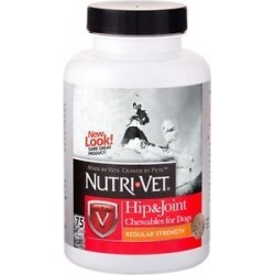 Nutri-Vet Hip & Joint Regular Strength Dog Chewables, 75 count found on Bargain Bro India from Chewy.com for $12.14