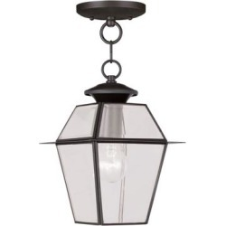 Livex Lighting Westover 11 Inch Tall 1 Light Outdoor Hanging Lantern - 2183-07 found on Bargain Bro Philippines from Capitol Lighting for $114.90