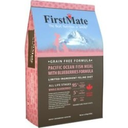 FirstMate Pacific Ocean Fish Meal with Blueberries Formula L.I.D. Grain-Free Dry Cat Food, 3.96-lb