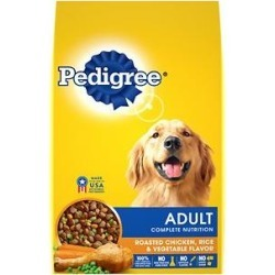 Pedigree Adult Complete Nutrition Roasted Chicken, Rice & Vegetable Flavor Dry Dog Food, 3.5-lb bag