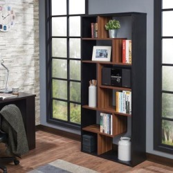Mileta II Bookshelf in Black & Walnut - Acme Furniture 92358 found on Bargain Bro India from totally furniture for $209.99