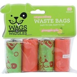 Wags & Wiggles Scented Wastebags Refill Pack, Pineapple Spike, 60 count