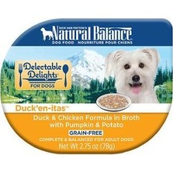 Natural Balance Delectable Delights Duck'en-itas Grain-Free Wet Dog Food, 2.75-oz, case of 24 found on Bargain Bro India from Chewy.com for $40.22