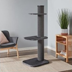 Two by Two City Cat Deluxe European 58-in Faux Fur Cat Tree, Grey found on Bargain Bro India from Chewy.com for $120.00