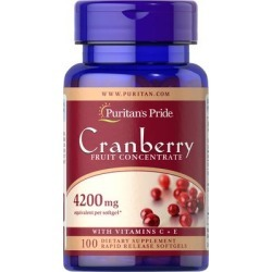 Puritan's Pride Cranberry Fruit Concentrate with C & E 4200 mg-100 Softgels