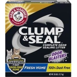Arm & Hammer Litter Clump & Seal Fresh Home Litter, 28-lb box found on Bargain Bro India from Chewy.com for $16.99