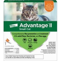 Advantage II Flea Treatment for Small Cats 5 lbs to 9 lbs & Ferrets, 1 treatment found on Bargain Bro India from Chewy.com for $14.98