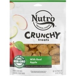 Nutro Crunchy with Real Apple Dog Treats, 16-oz bag