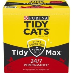 Tidy Max 24/7 Performance Clumping Cat Litter, 38-lb box found on Bargain Bro India from Chewy.com for $23.99