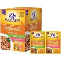 Wellness Healthy Indulgence Morsels Grain-Free Variety Pack Cat Food Pouches, 3-oz, case of 32 found on Bargain Bro India from Chewy.com for $41.76