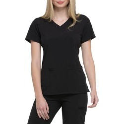 Dickies Women's Eds Essentials Mock Wrap Scrub Top - Black Size 2Xl (DK625) found on Bargain Bro India from Dickies.com for $22.99