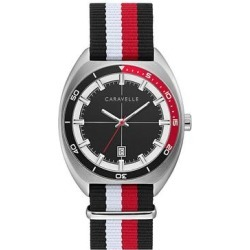 Caravelle by Bulova Men's Black & Red Strap Watch - 43B168, Size: Large found on MODAPINS from Kohl's for USD $125.00