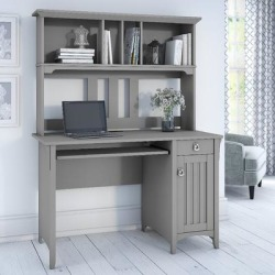 Salinas Computer Desk w/ Hutch in Cape Cod Gray - Bush Furniture MY72308-03 found on Bargain Bro India from totally furniture for $214.79