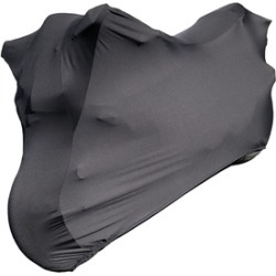 Hyosung Motors Scooter Covers - 2013 MS3-250 Indoor Black Satin, Guaranteed Fit, Ultra Soft, Plush Non-Scratch, Dust and Ding Protection Scooter Cover