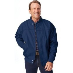Men's John Blair® 3-Season Uninsulated Jacket, Navy Blue L found on Bargain Bro from Blair.com for USD $30.39
