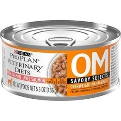 Purina Pro Plan Veterinary Diets OM Savory Selects With Salmon Wet Cat Food, 5.5-oz can, case of 24 found on Bargain Bro Philippines from Chewy.com for $47.79