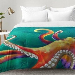 East Urban Home Octopus Comforter Set EAHU7504 Size: Full/Queen found on Bargain Bro India from wayfair.com for $189.99
