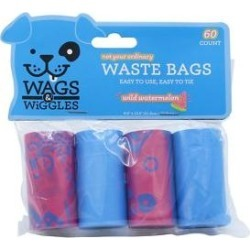 Wags & Wiggles Scented Wastebags Refill Pack, Wild Watermelon, 60 count