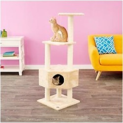 GoPetClub 51-in Cat Tree, Beige found on Bargain Bro India from Chewy.com for $43.26